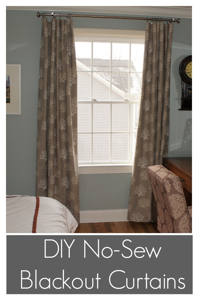 DIY No Sew Blackout Curtains | Ocean Front Shack