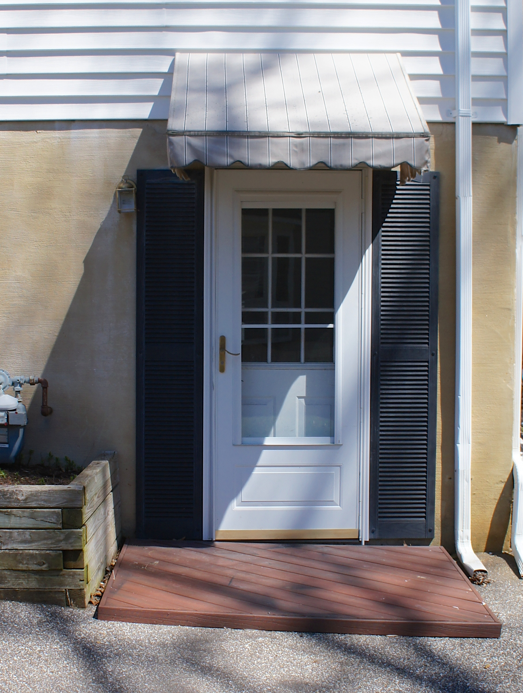 Side door update ocean front shack for Exterior basement entrance