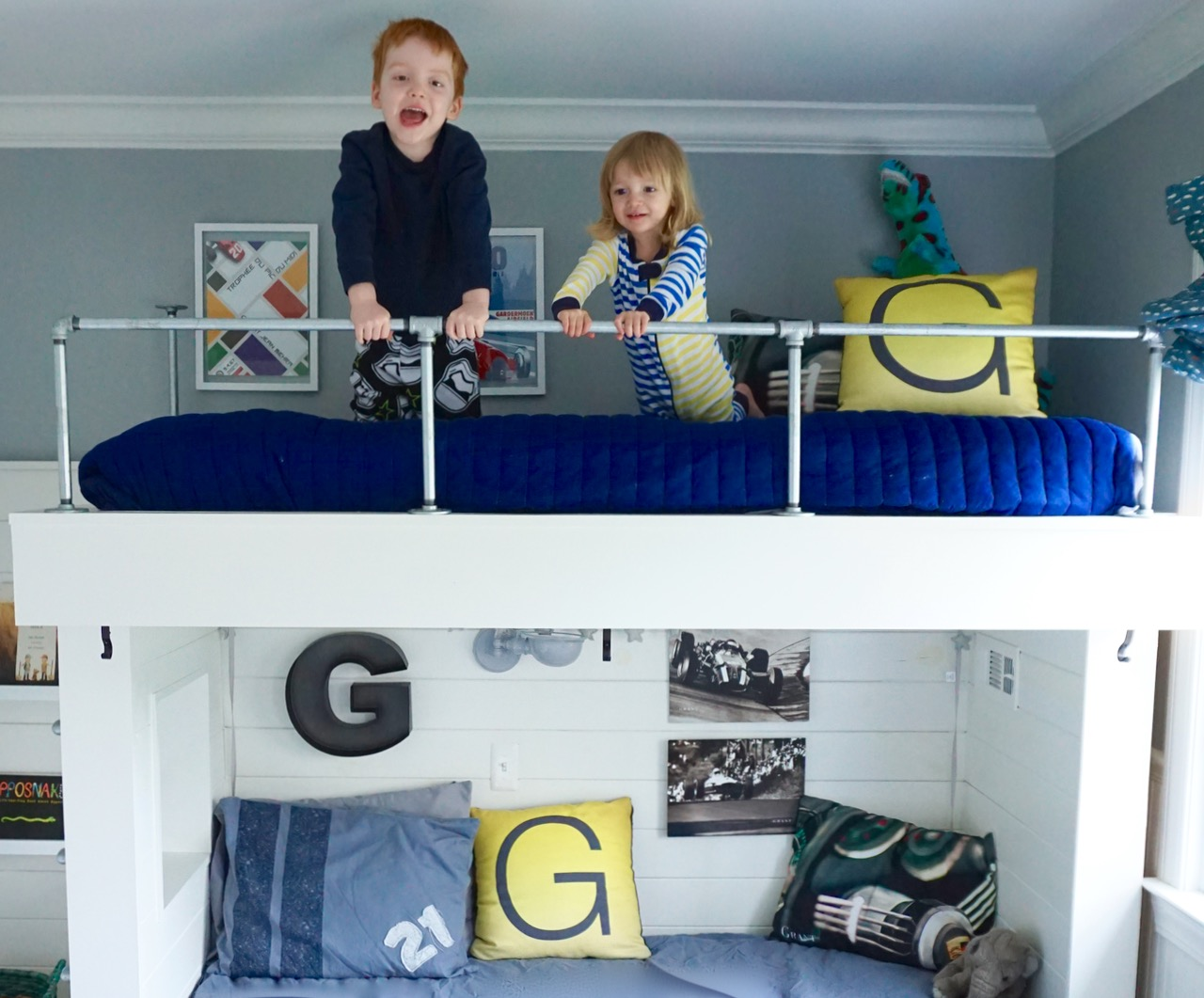Bunk Bed Pipe Rails Ladder